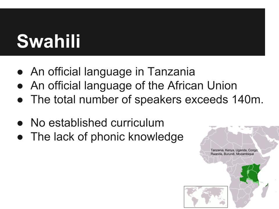 141106. Swahili. AECT. Presentation (2)